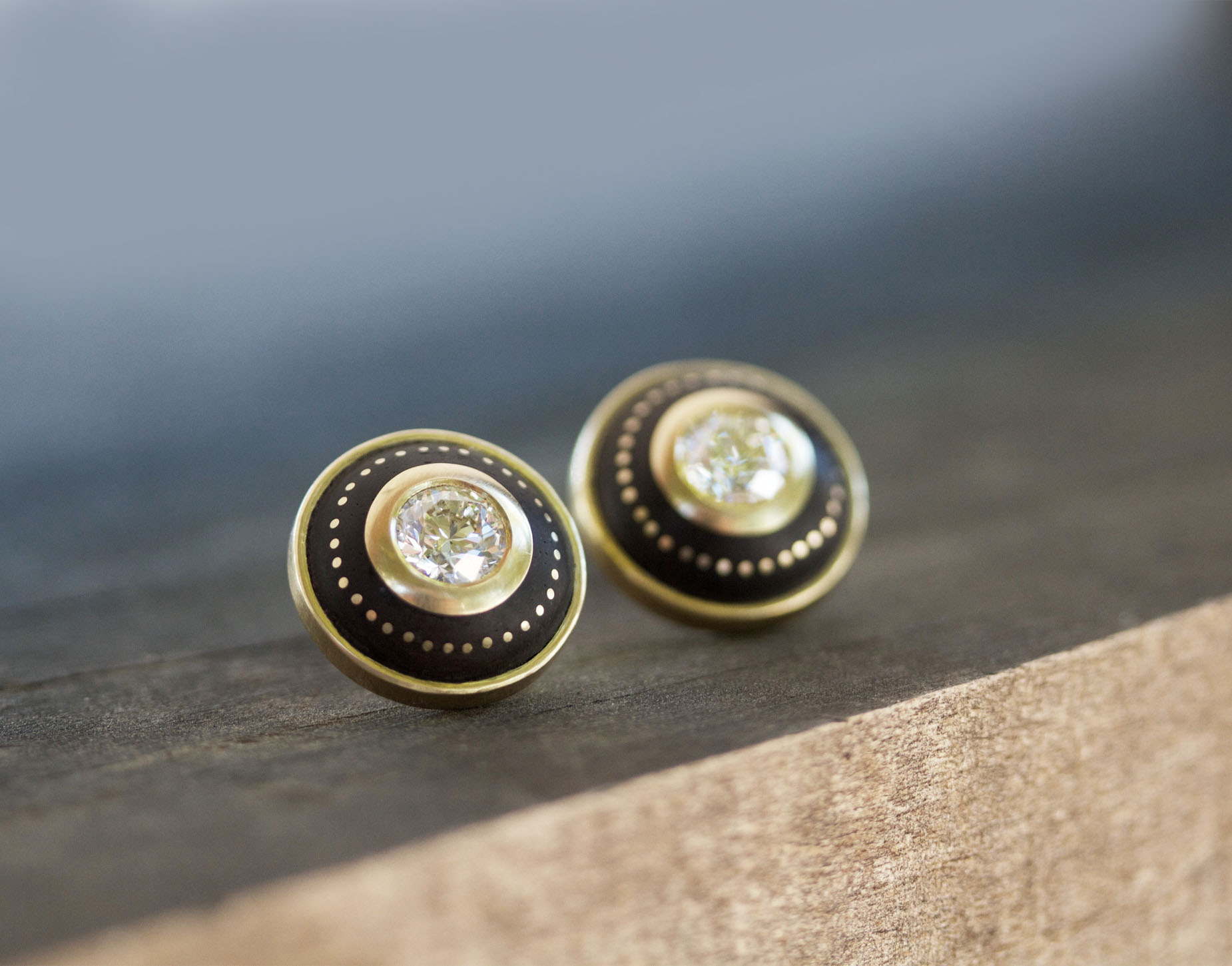 Shweshwe Stud Earrings