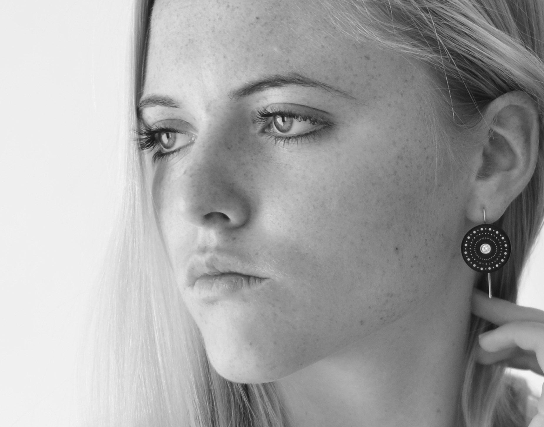 Shweshwe Diamond Earrings