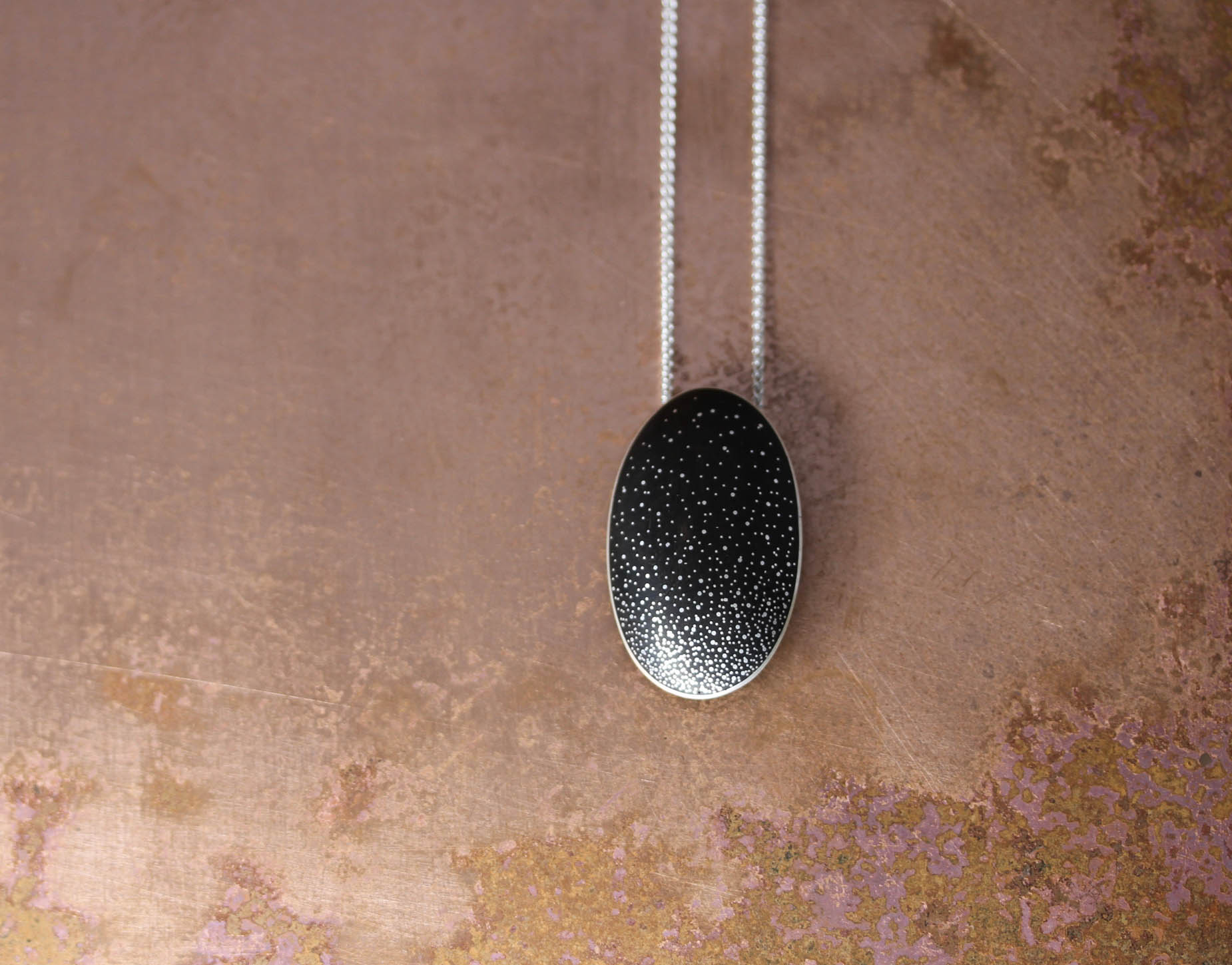 Oval Milky Way Pebble