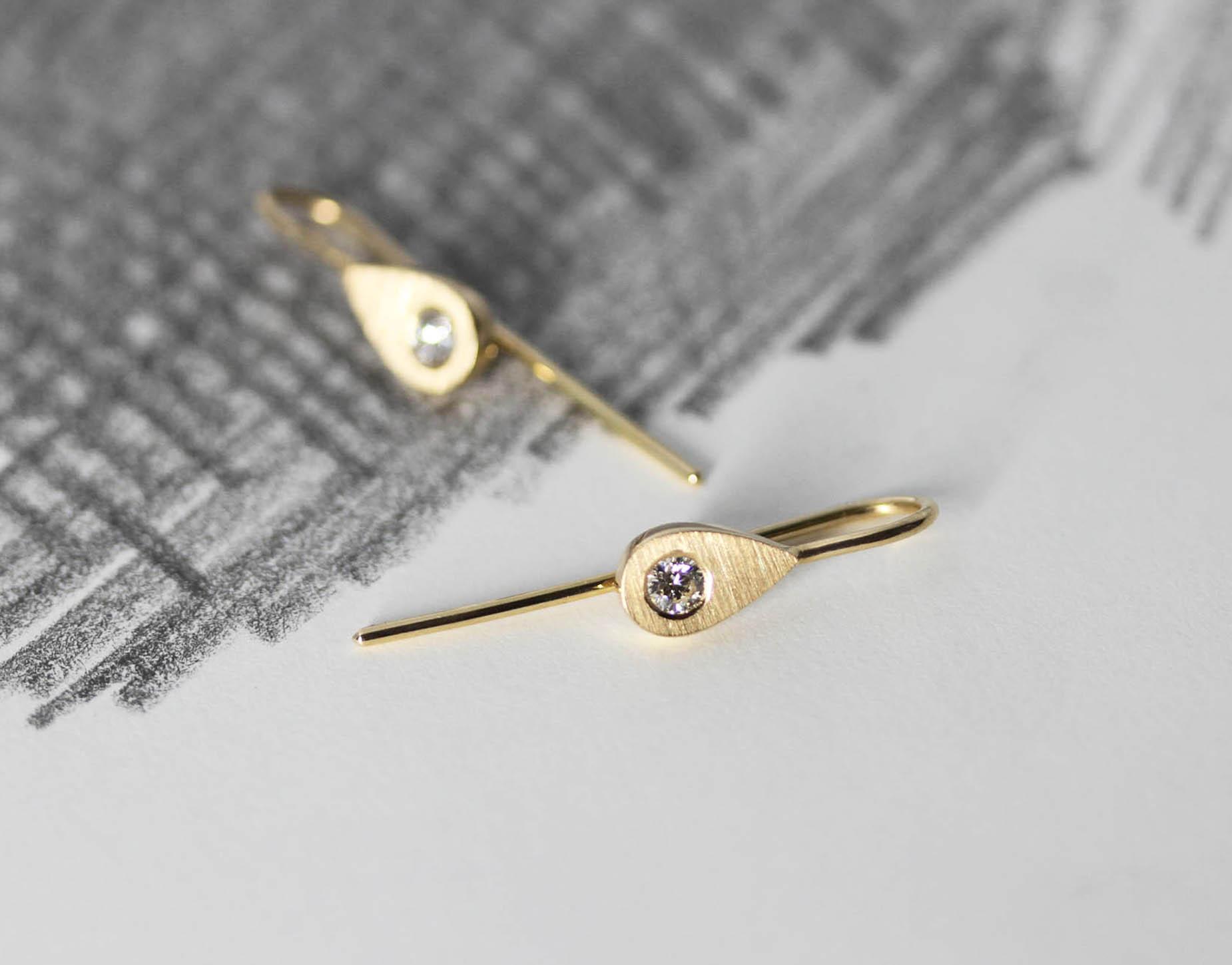 Gold Seed Earrings