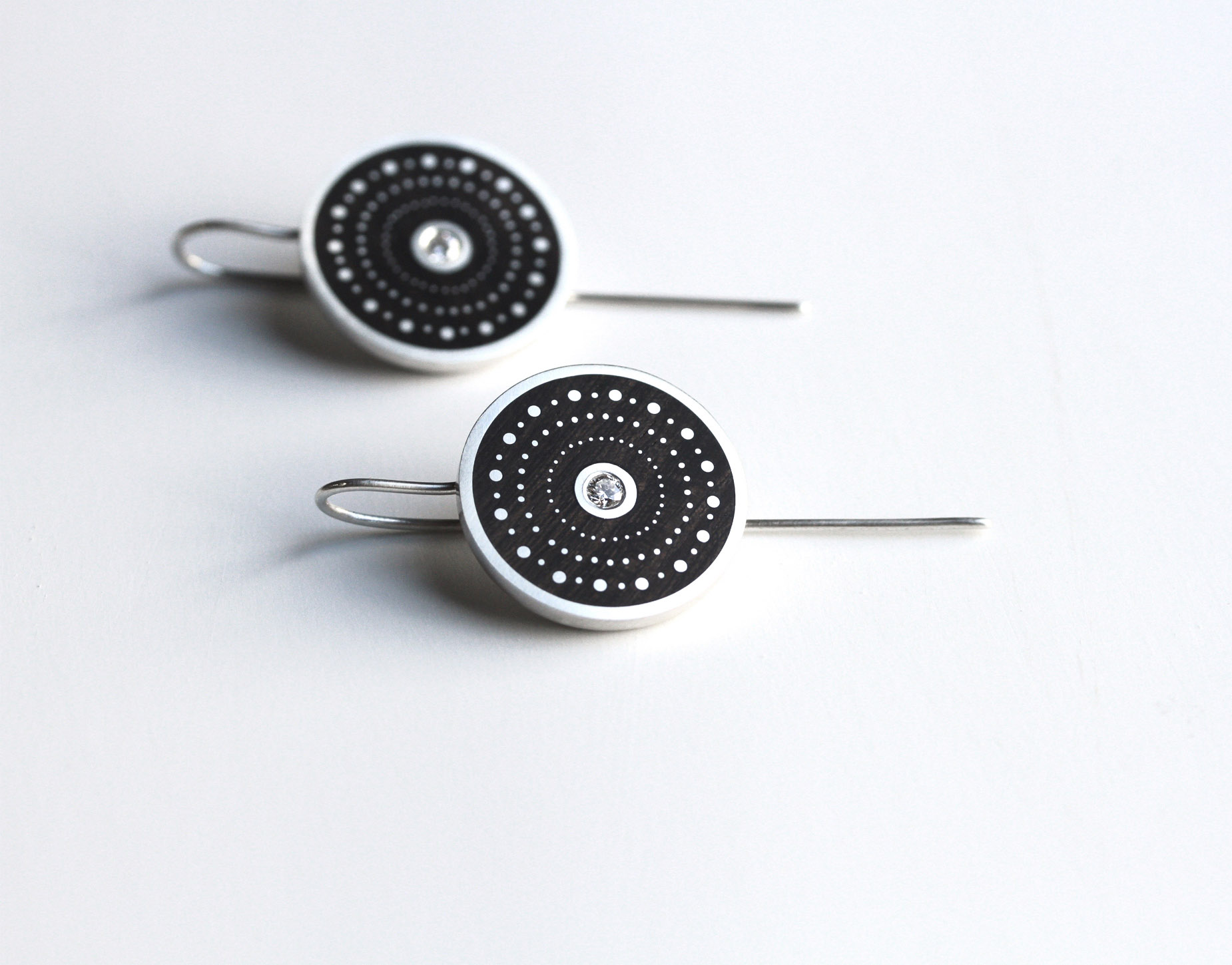 Shweshwe Diamond Earrings