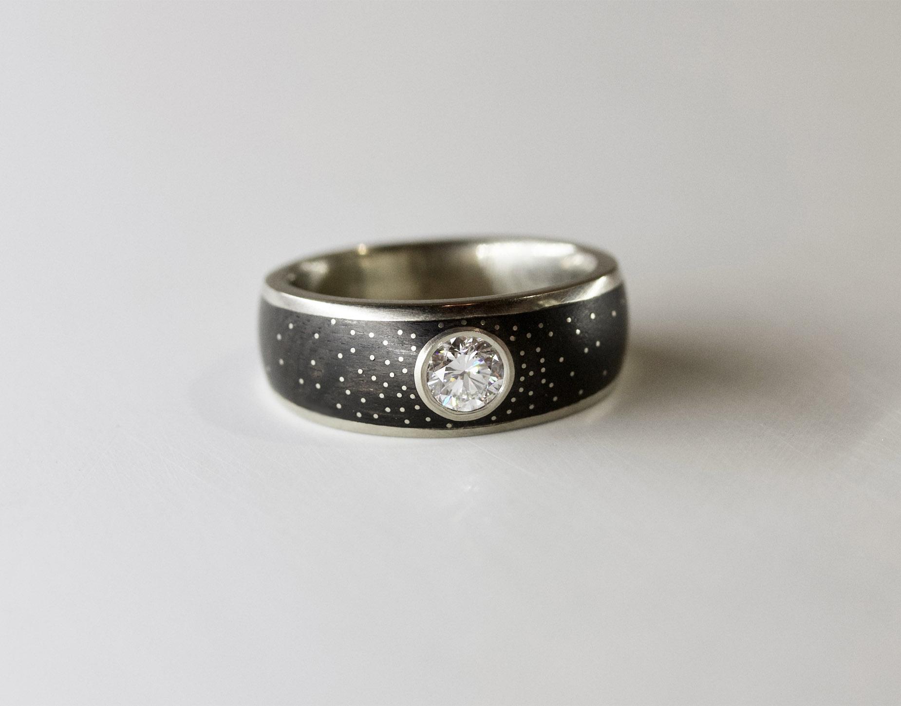 Platinum Milky Way Ring