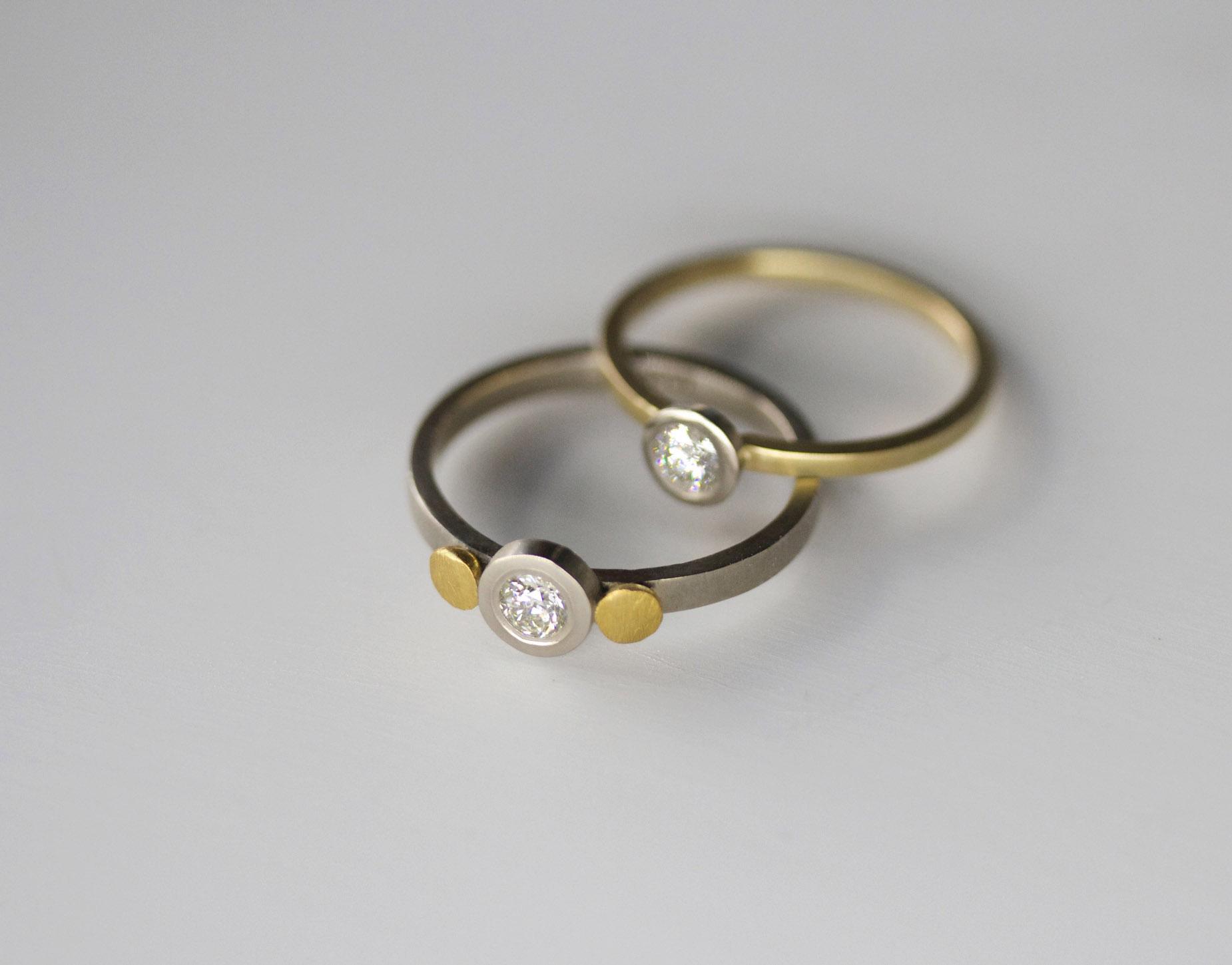 Petite diamond rings