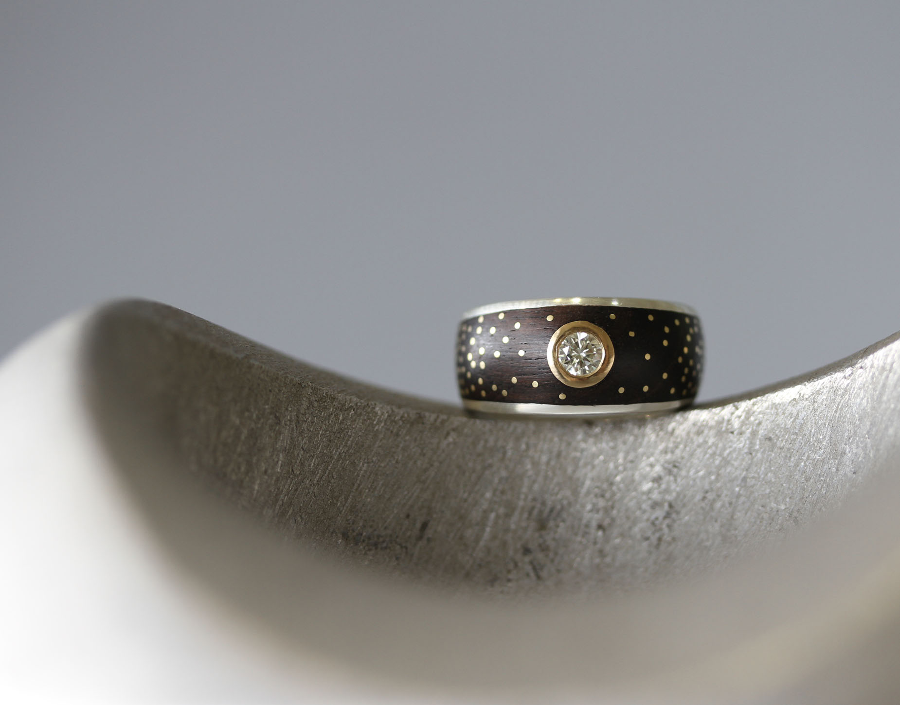 Silver and Gold Milky Way Ring